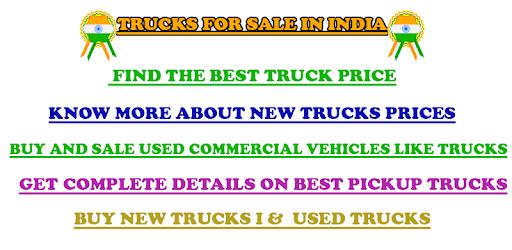 Trucks For Sale in India apk