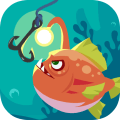 Happy Fishing - Catch Fish and Treasures Icon