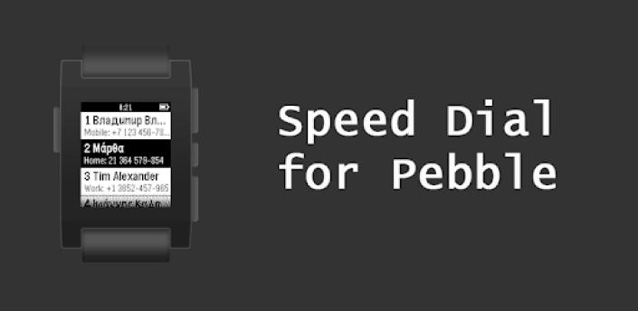 Pebble Speed Dial apk