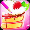 Sweet Cake Coloring Book Icon
