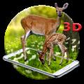 White Deer 3D Live wallpaper Icon