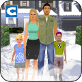 Virtual Daddy with Family at Winter Vacations Icon