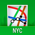 NYC Subway Map with MTA Bus, LIRR & Metro North Icon