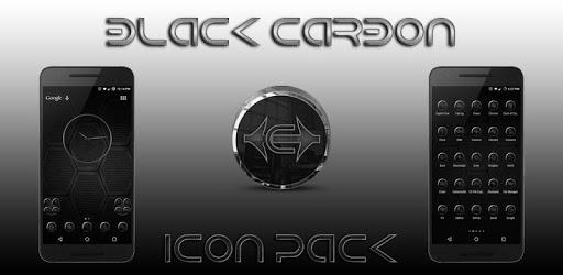 Black Carbon Icon Pack apk