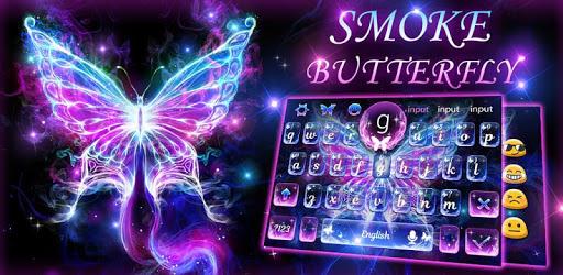 Smoke Butterfly Keyboard Theme apk