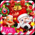 3D Happy Christmas Santa Theme Icon