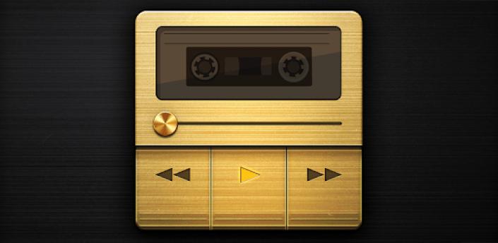 Marshall - Dark Retro Gold/Metal Poweramp V3 Skin apk