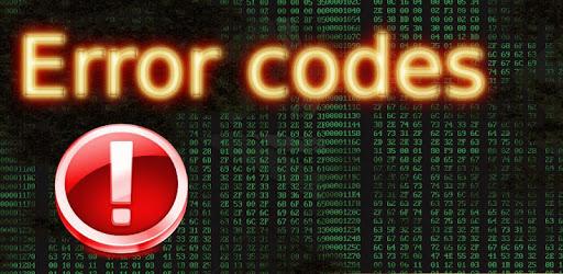 Error codes apk