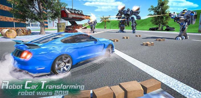 Robot Car Transformation: Robot Shooting Game apk