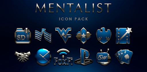 MENTALIST Blue Icon Pack apk