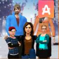 Virtual Family Simulator Winter Vacations Fun Icon