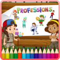 Kids Coloring Book Professions Icon