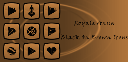 Royale Anna Black On Brown Icons apk