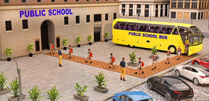 City School Bus Driving Simulator :Coach Bus Games apk