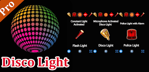 Disco light with flashlight apk