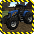 Farm Tractor Driver 3D Parking Icon