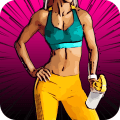 Women Workout at Home - Female Fitness Fat Burning Icon