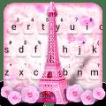 Pink Paris Tower Keyboard Theme Icon