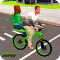 BMX Bicycle Taxi Driving: City Transport Icon