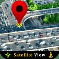 Live Satellite View GPS Map Travel Navigation Icon