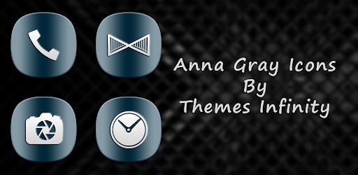 Anna Infinity Gray Icons apk