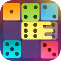 Dominoes puzzle - merge blocks with same numbers Icon