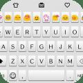 Simple White Emoji Keyboard Icon