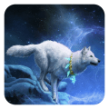 White Wolf Live Wallpaper Icon