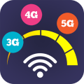 Wifi speedtest meter - 5g, 4g, 3g speedtest meter Icon