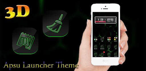 3D Ripple Cool Neon Green Launcher Wallpaper Theme apk