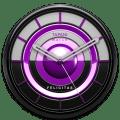 FELICITAS Designer Clock Widget purple / violet Icon