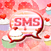 GO SMS Pro Theme cupcake heart Icon