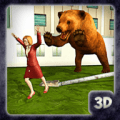 Wild Grizzly Bear City Attack Sim 3D Icon