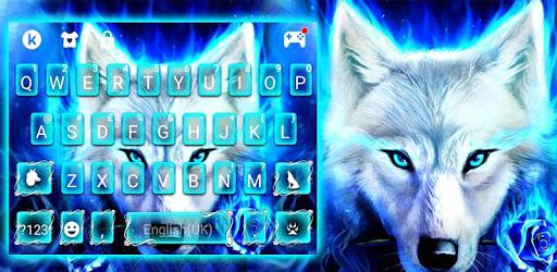 Blue Night Wolf Keyboard Theme apk