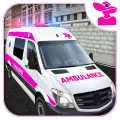 Emergency Ambulance Rescue Driver 2021 New Games Icon