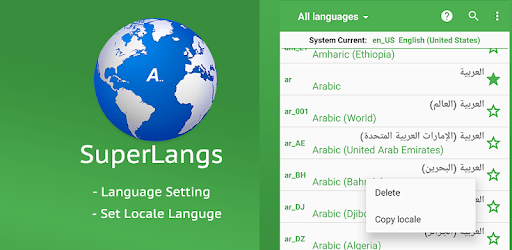 Super Language Setting & Set Locale for Android apk