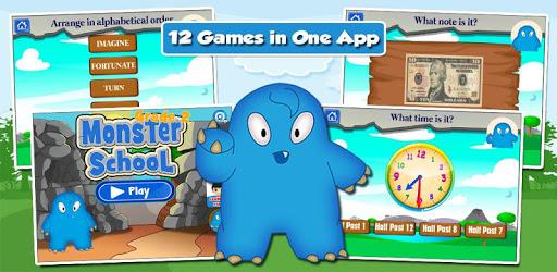 Monster Kid 2nd Grade Games apk