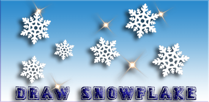 Draw your own snowflake apk