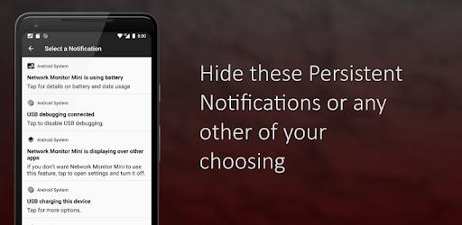 Hide Persistent Notifications apk