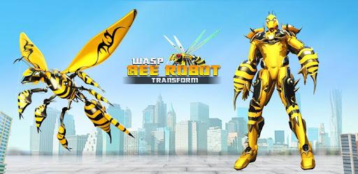 Flying Bee Transform Robot War: Robot Games apk