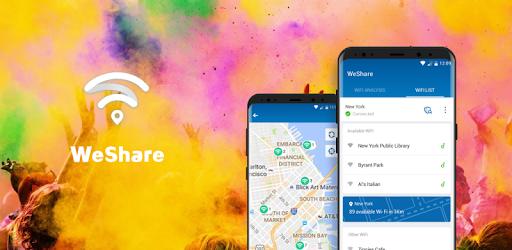 WeShare: Share WiFi Worldwide freely apk