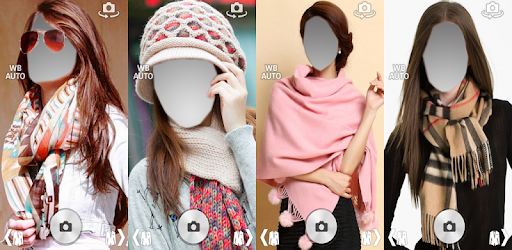 Girls Scarf costume montage photo frames apk