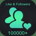 Followers & Likes For tik tok Free Icon