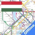 Budapest Metro, Train, Bus Map Offline メトロ オフライン Icon