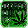 Green Neon Weed Keyboard Theme Icon