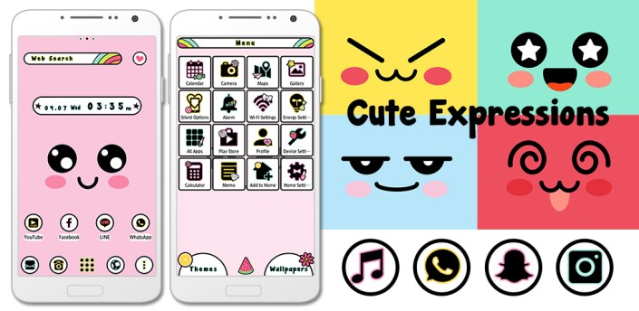 Colorful Wallpaper Cute Expressions Theme apk