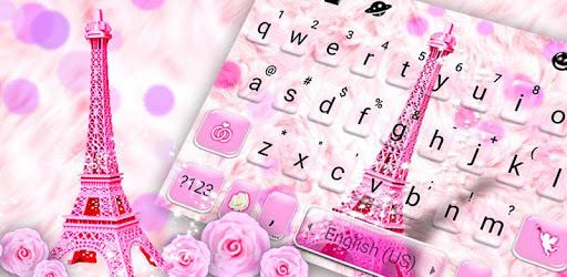 Pink Paris Tower Keyboard Theme apk