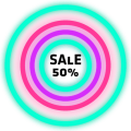 Neon Glow Rings - Icon Pack Icon
