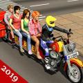 Bus Bike Driving: Cab Rider Transport Game Icon