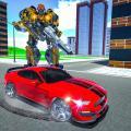 Robot Car Transformation: Robot Shooting Game Icon